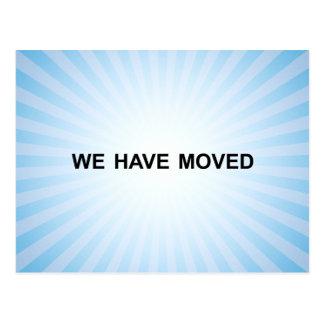 new address announcement : light burst postcard