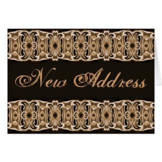 New Address brown black Card