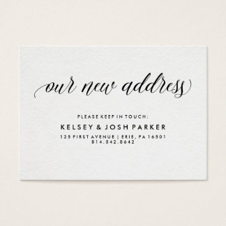 New Address Insert | Modern Elegant Typography
