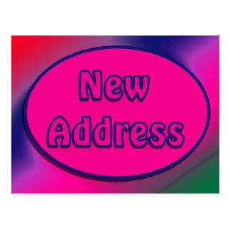 New Address pink and blue Postcard