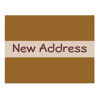 New Address simple brown Postcard