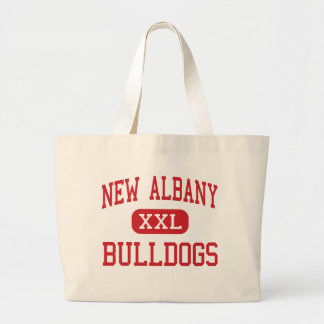 New Albany - Bulldogs - High - New Albany Indiana Large Tote Bag