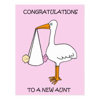 New Aunt Congratulations (baby girl). Postcard