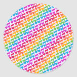 New Awesome Rainbow Notes Round Sticker