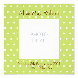 New Baby announcement personalised photo upload