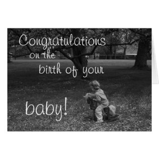 New Baby, Black and White Card