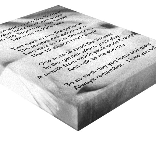 New Baby Canvas Gallery Wrapped Canvas