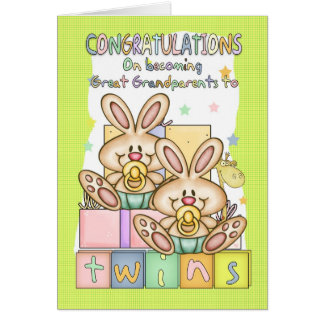 New Baby Congratulations For Great Grandparents - Greeting Card