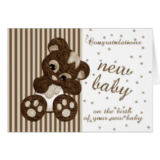 New Baby Congratulations - New Baby Card - Modern