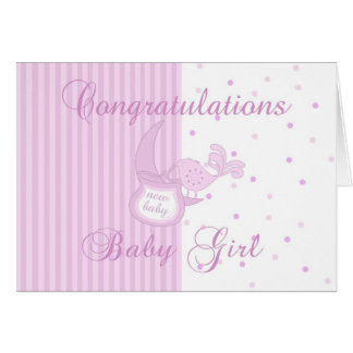 New Baby Congratulations - New Baby Girl Card