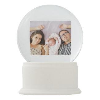 New Baby Custom Photo Snow Globe