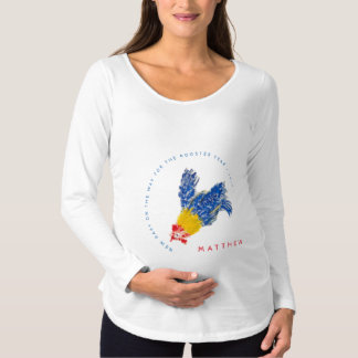 New Baby on the way Rooster Year 2017 Maternity S Maternity T-Shirt