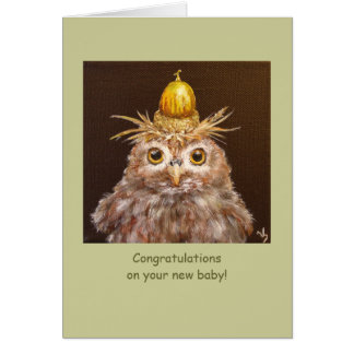 New baby with owls card