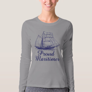 New Balance Proud Maritimer nautical sailing ship T-Shirt