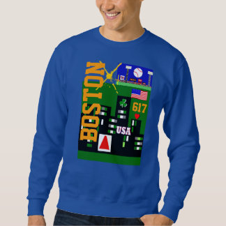 New Boston Sports Men's Blue Sweatshirt
