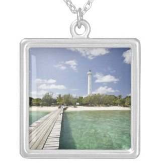 New Caledonia, Amedee Islet. Amedee Islet Pier. Silver Plated Necklace