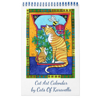 New Cat Art Calendar by Cats of Karavella