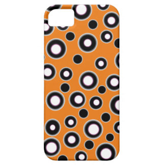 New Cool iPhone 5 Case Orange Black & White Dots