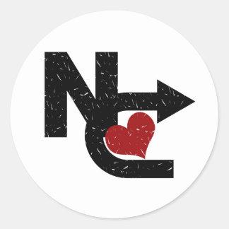 New Courage Logo Round Sticker