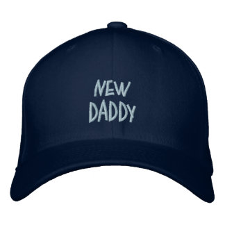 New, Daddy-Blue(Boy)-Saying-Hat=Embroidered Embroidered Hats