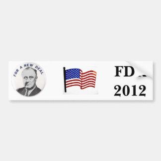New Deal 2012 Bumper Sticker