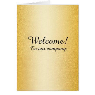 New Employee Welcome Faux Gold Card