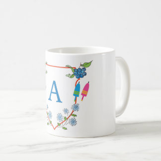 """New England - """"A"""" monogram Coffee Mug"""