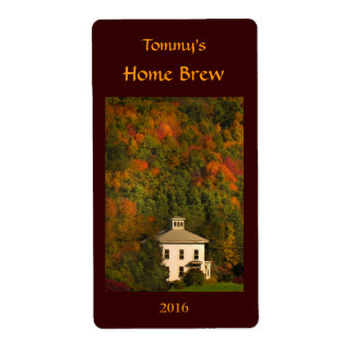 New England Autumn Beer Label