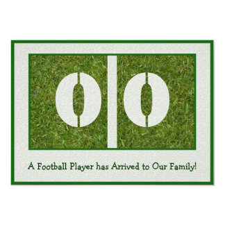 New Football Player Arrival Card