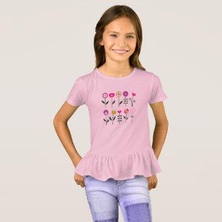 New girls fashion with hand-drawn Art T-Shirt