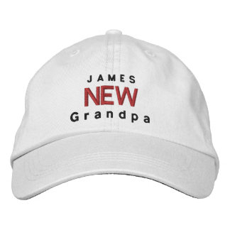 NEW GRANDPA Personalized Adjustable Hat V03 Embroidered Hat