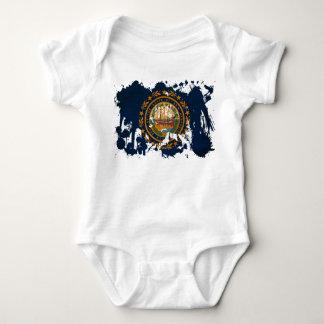 New Hampshire Flag Baby Bodysuit