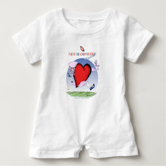 new hampshire head heart, tony fernandes baby bodysuit