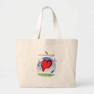 new hampshire head heart, tony fernandes large tote bag