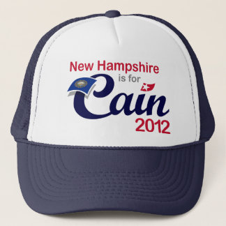 New Hampshire is for Cain 2012 - Herman Cain Trucker Hat