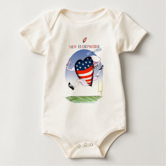 new hampshire loud and proud, tony fernandes baby bodysuit