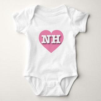 New Hampshire Pink Heart - Big Love Baby Bodysuit