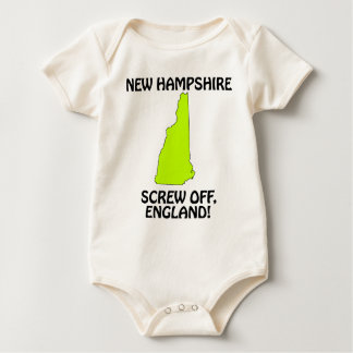 New Hampshire - Screw Off, England! Baby Bodysuit