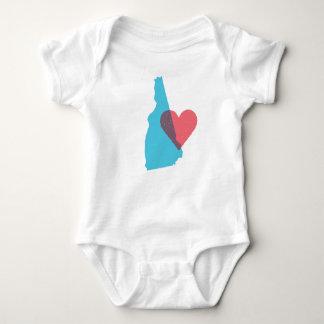 New Hampshire State Love Baby Shirt