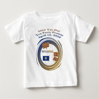 New Hampshire Tax Day Tea Party Protest Baby T-Shirt