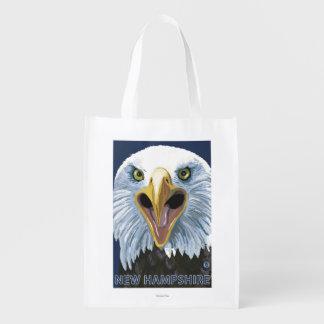 New HampshireEagle Up Close Reusable Grocery Bag