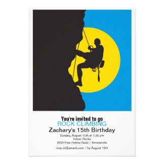 New Heights Rock Climbing Party Invitation