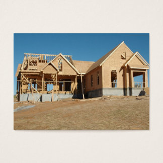 new  home construction business card