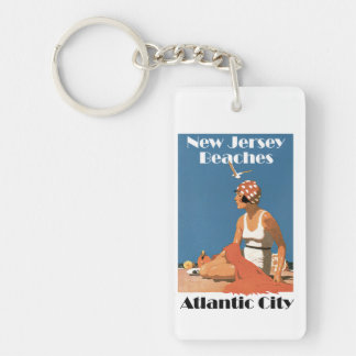 New Jersey Beaches ~ Atlantic City Key Ring
