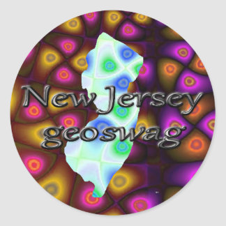New Jersey Geocaching Supplies Stickers Geoswag