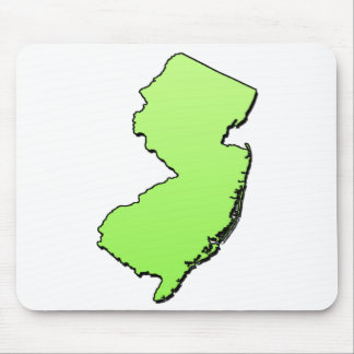 New Jersey Light Green Outline Mouse Pad