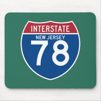 New Jersey NJ I-78 Interstate Highway Shield - Mouse Pad