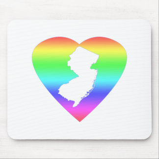 New Jersey Rainbow heart Mouse Pad
