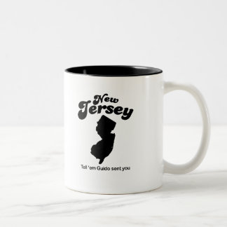 New Jersey - Tell em Guido sent you Two-Tone Mug