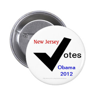 New Jersey Votes Obama 2012 Button